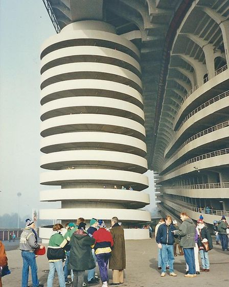 A fan's pictures from Norwich City's game at the San Siro in 1993 Picture: Edward Jackson