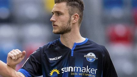 Former Norwich City striker Dennis Srbeny has scored five goals in 10 games for Paderborn Picture: M