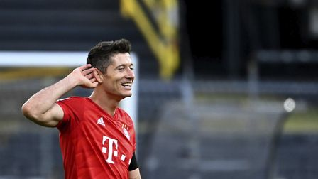 The sound of silence - Bayern Munich's Robert Lewandowski Picture: PA