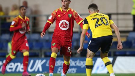 Josh Martin in EFL Trophy action for Norwich City U21s at Oxford United earlier this season Picture: