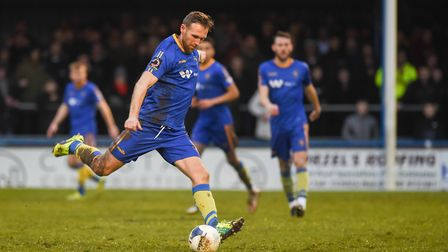 Former Norwich City striker Ryan Jarvis in action for King's Lynn Town Picture: Ian Burt
