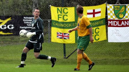 Goalkeeper Stuart Nelson in action during the 2008 friendly match between Norwich City and Ahlafors