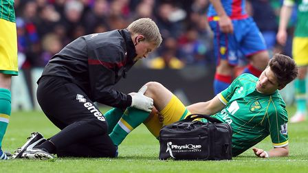 Timm Klose's injury at Selhurst Park in 2016 ended his Premier League season. Picture: Paul Chestert