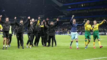 City beat Spurs on penalties to advance to the quarter-finals of the FA Cup in March. Picture: Paul