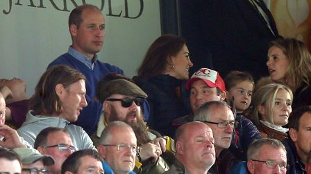 Prince William, an Aston Villa fan, and his son George were pictured enjoying their teams win at Car