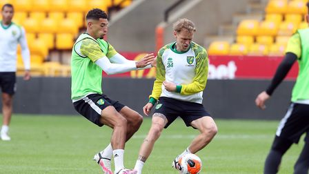 City ramp up preparations to their Premier League restart by training at Carrow Road. Picture Norwic
