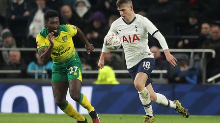 Tettey has established himself as an important part of Daniel Farke's first-team squad. Picture: Pau
