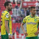 Mario Vrancic, left, and Mo Leitner played pivotal roles in City's promotion season Picture: Paul Ch