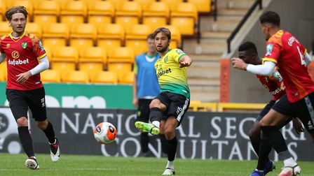 Norwich City took part in a behind closed doors, intra-squad friendly at Carrow Road on Tuesday. Pic