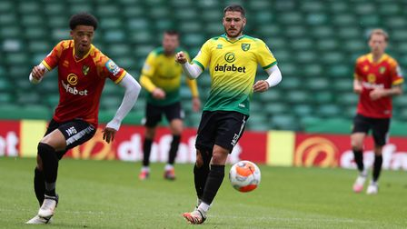 City's squad played at Carrow Road as they continued their preparations for the Premier League resta