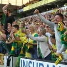 Home fans celebrate the winning goal against Manchester City Picture: Paul Chesterton/Focus Images L