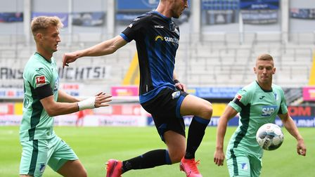 Dennis Srbeny explains why he swapped Norwich City for Paderborn in January. Picture: Mirko Kappes/P