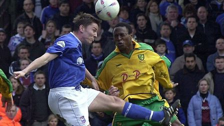 Holland in action against the Canaries in 2002. Picture: Archant