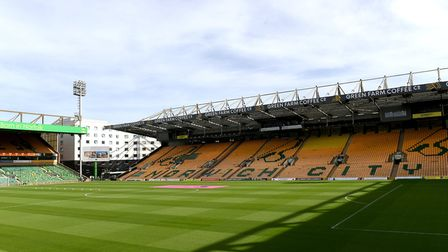 The view that will greet the players at Carrow Road Picture: PA