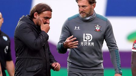Farke failed to adapt after Hassenhuttl tweaked Southampton's press. Picture: Mike Egerton/PA Wire