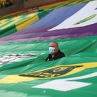 A strategically placed 'ball boy' during the Premier League match at Carrow Road on Friday Picturer: