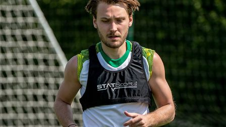 Tom Trybull returned to training last month as Norwich City prepare to resume their season Picture: