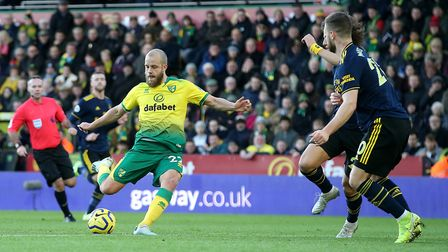 Teemu Pukki opened the scoring for the Canaries against Arsenal in December but the Gunners fought b