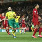 Teemu Pukki rues a missed chance against Liverpool in February Picture: Paul Chesterton/Focus Images
