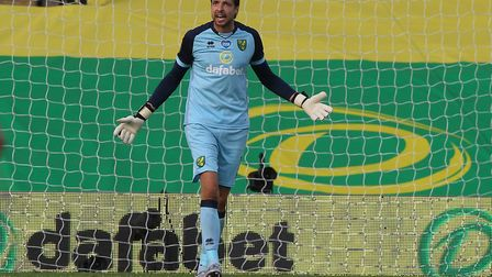 Tim Krul has compared playing behind closed doors to training ground games. Picture: Paul Chesterton