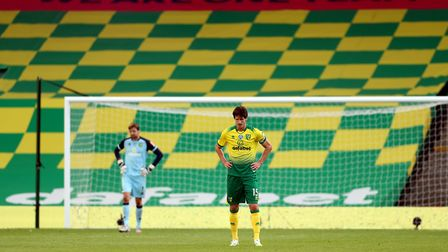 Norwich City were beaten 3-0 in their first fixture following the restart against Southampton. Pictu
