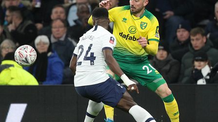 Josip Drmic, pictured in FA Cup action at the Tottenham Hotspur Stadium in March, was on target as N