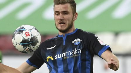 Dennis Srbeny has been unable to prevent Paderborn's relegation from the Bundesliga Picture: Matthia