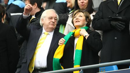Delia Smith and her husband Michael Wynn Jones Picture: Paul Chesterton/Focus Images Ltd