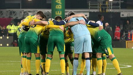Norwich City's players resume their season behind closed doors at Carrow Road against Southampton Pi