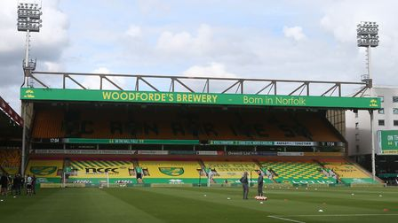 The seat coverings on display at Carrow Road. Picture: Paul Chesterton/Focus Images Ltd +44 7904 640