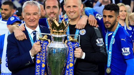 Leicester City celebrate their shock Premier League title success of 2016, a feats unlikely to be re