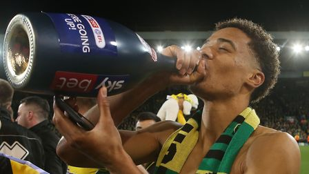 Jamal Lewis enjoys the taste of success as Norwich celebrate promotion - the Championship was great