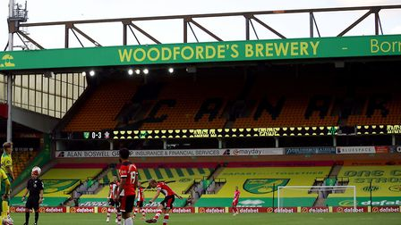 The seat coverings on display at Carrow Road. Picture: Richard Heathcote/PA Wire/NMC Pool