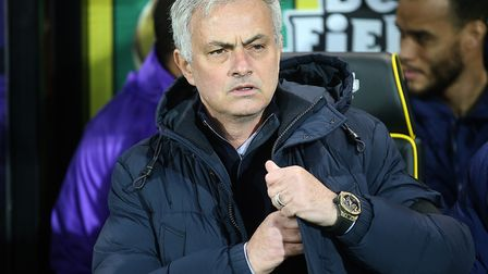 Tottenham Hotspur manager Jose Mourinho, pictured at Carrow Road earlier this season Picture: Paul C