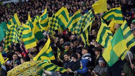 Norwich City fans were in good voice when Liverpool came to Carrow Road Picture: Paul Chesterton/Foc