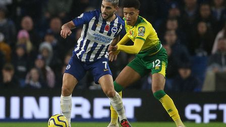 Norwich City lost 2-0 at Brighton earlier this season Picture: Paul Chesterton/Focus Images