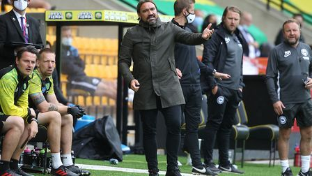 Daniel Farke saw his side fall to their sixth straight defeat in all competitions. Picture: Paul Ch