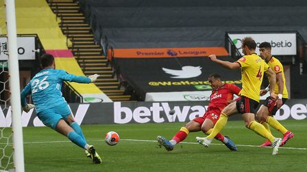 Norwich City sub Adam Idah goes close to an equaliser against Watford Picture: Paul Chesterton/Focus