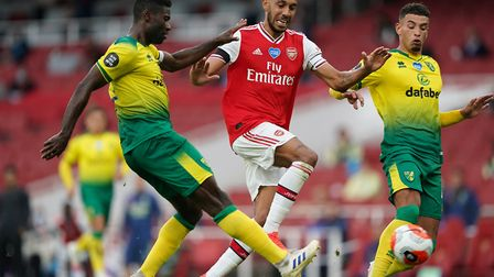 Alex Tettey had to cover for injuries in defence during Norwich City's midweek defeat at Arsenal Pic