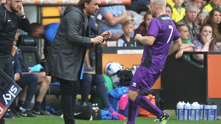 Despite playing only three matches under Daniel Farke, Naismith has praised City's current boss. Pic