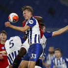 Brighton's Dan Burn in action during the defeat to Manchester United Picture: PA