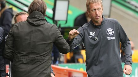 Graham Potter had words of consolation for Daniel Farke and Norwich City after his Brighton complete