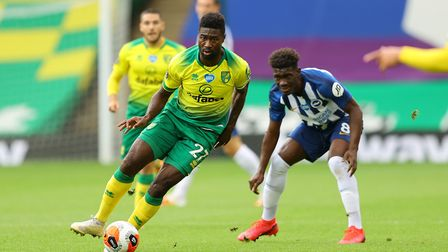 City midfielder Alex Tettey in action against Brighton at the weekend Picture: PA