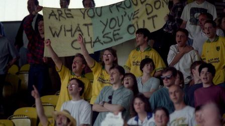 The last time Norwich lost seven straight games was during the 1995 relegation season Picture: Archa