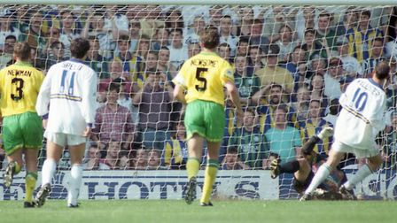 Gary McAllister equalised from the penalty spot as Leeds fought back to effectively relegate Norwich