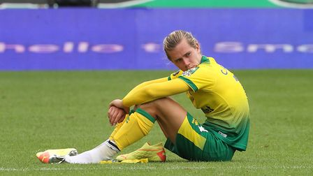 Todd Cantwell cut a dejected figure after City's 1-0 defeat to Brighton. Picture: Paul Chesterton/Fo