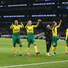 FA Cup memories - Norwich City players celebrate victory at Tottenham. No matter what happens agains