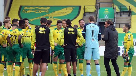 Norwich City's players are on the verge of a Championship return Picture: Paul Chesterton/Focus Imag