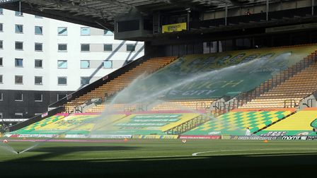 The show must go on - Carrow Road before the game against Southampton Picture: Paul Chesterton/Focus