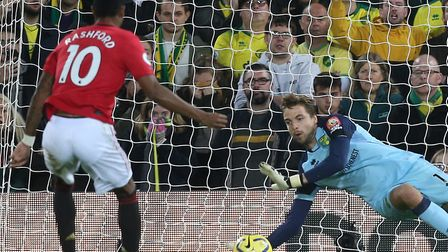 Tim Krul could be in line for another busy outing after saving two penalties in Manchester United's